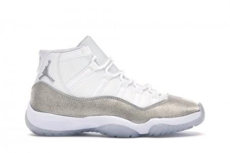 Cheap Air Jordan Shoes 11 Retro White Metallic Silver