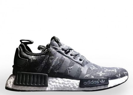 Cheap LV X Adidas NMD XR1 Black Colorway for Sale