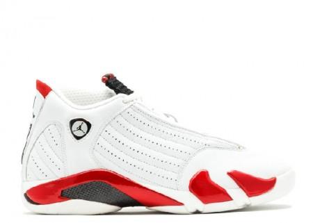 Cheap Air Jordan Shoes 14(OG) White Black Varsity Red