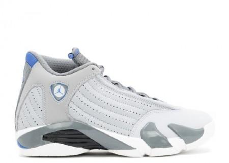 Cheap Air Jordan Shoes 14 Retro Sport Blue Wolf Grey