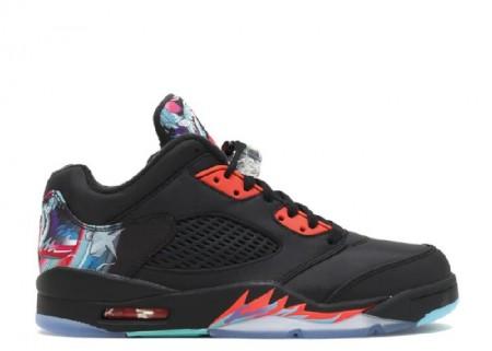 Cheap Air Jordan Shoes 5 Retro Low Cny Chinese New Year Black Orange