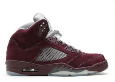 Cheap Air Jordan Shoes 5 Retro Ls Deap Burgundy-Light Silver