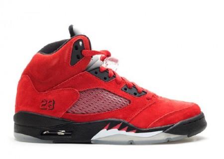 Cheap Air Jordan Shoes 5 Retro Raging Bull Red Suede