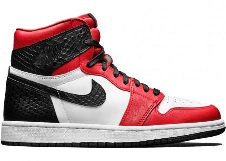 Cheap Air Jordan Shoes 1 Retro High Satin Snake Chicago