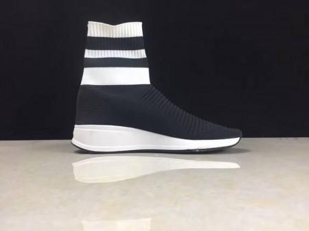 Cheap Balenciaga Speed Stretch-Knit Black White Online