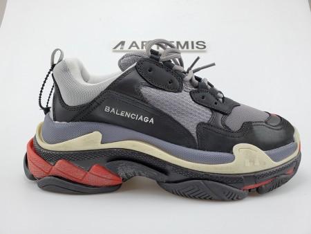 Cheap BALENCIAGA TRIPLE S LIGHT GREY RED
