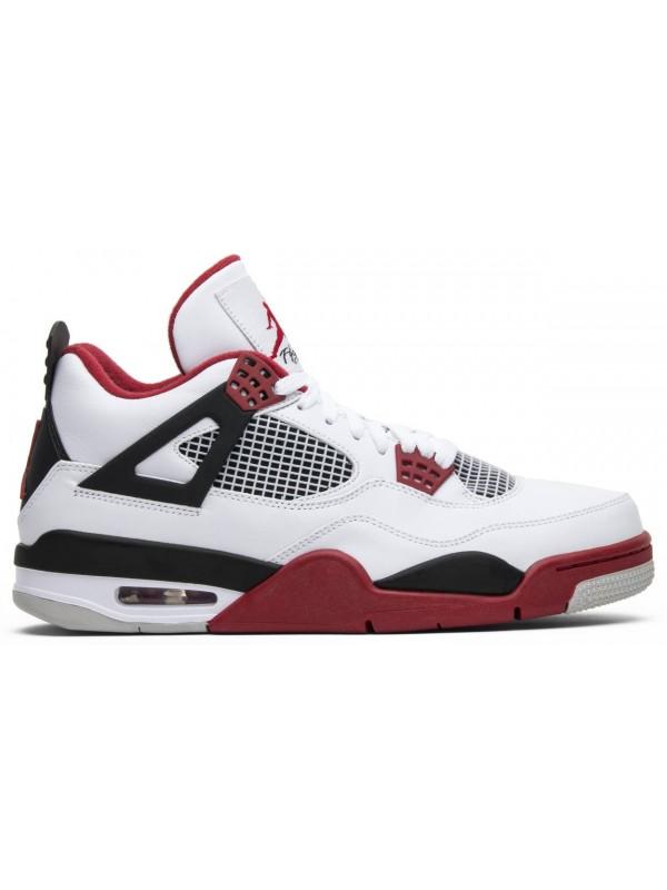 Cheap Air Jordan Shoes 4 Retro White Varsity Red Black