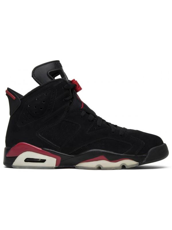 Cheap Air Jordan Shoes 6 Retro Black Varisty Red