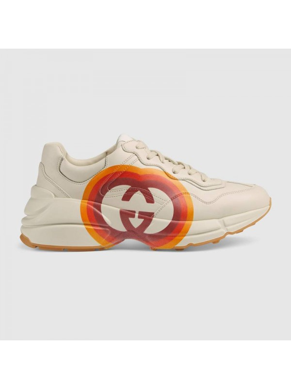 Cheap Gucci Rhyton sneaker with Interlocking G and heart Online