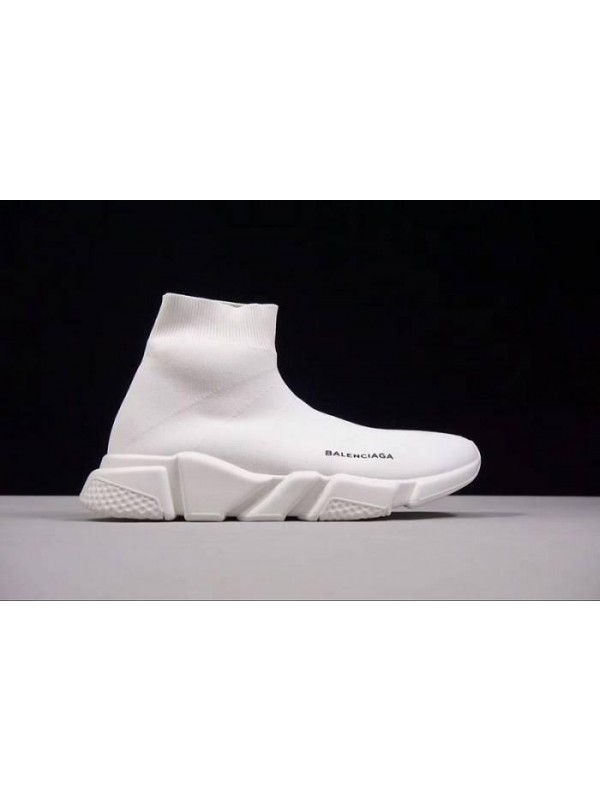 Cheap Speed Stretch-Knit White Mid Sneakers Online
