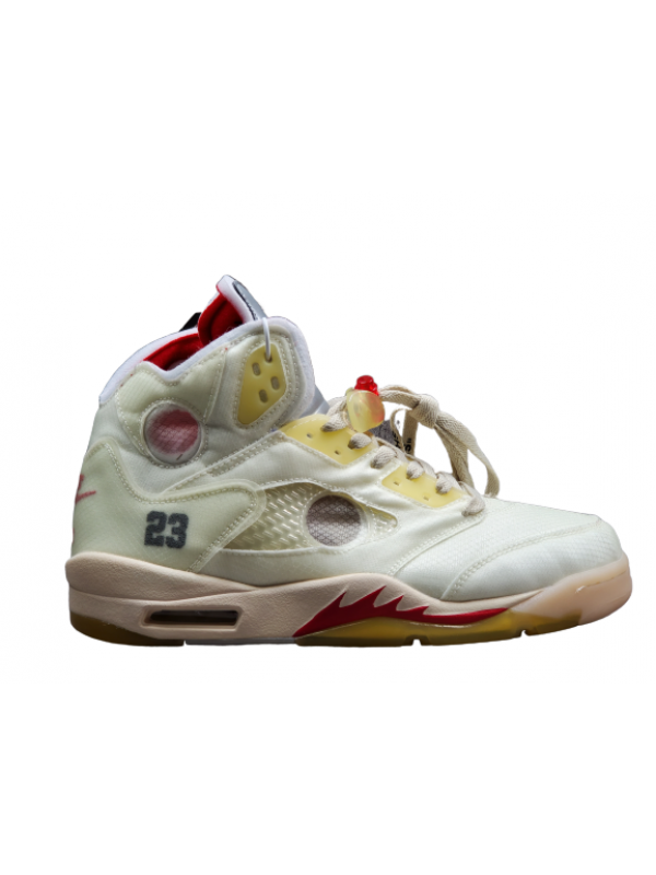 Cheap Air Jordan Shoes 5 RETRO OFF WHITE WHITE