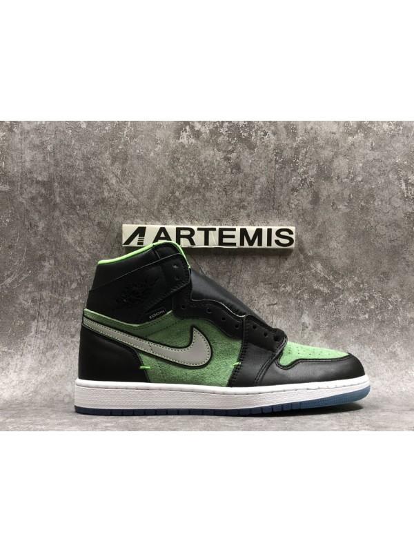Cheap Air Jordan Shoes 1 Retro High Zoom Black Green
