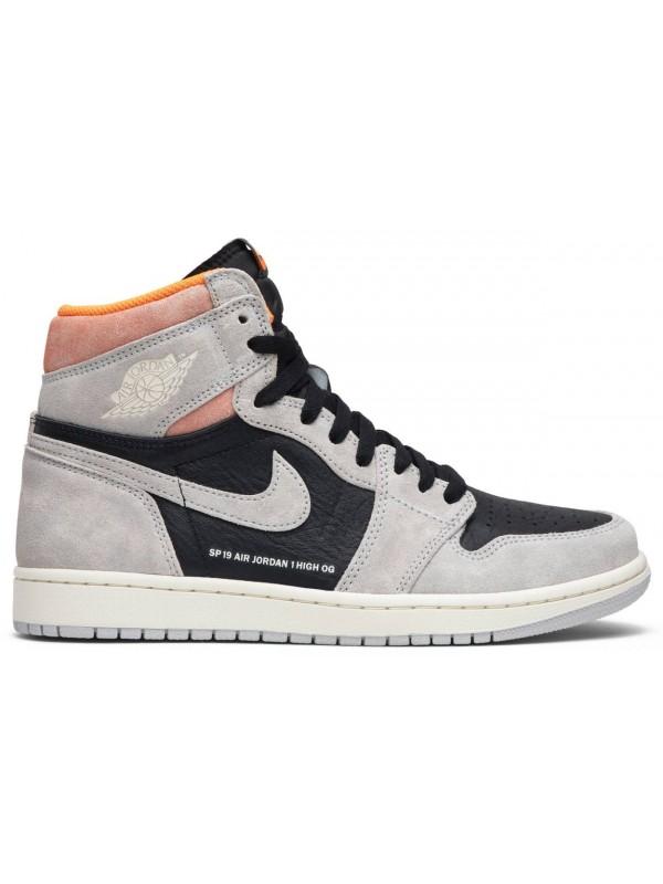 Cheap Air Jordan Shoes 1 Retro High Neutral Grey Hyper Crimson