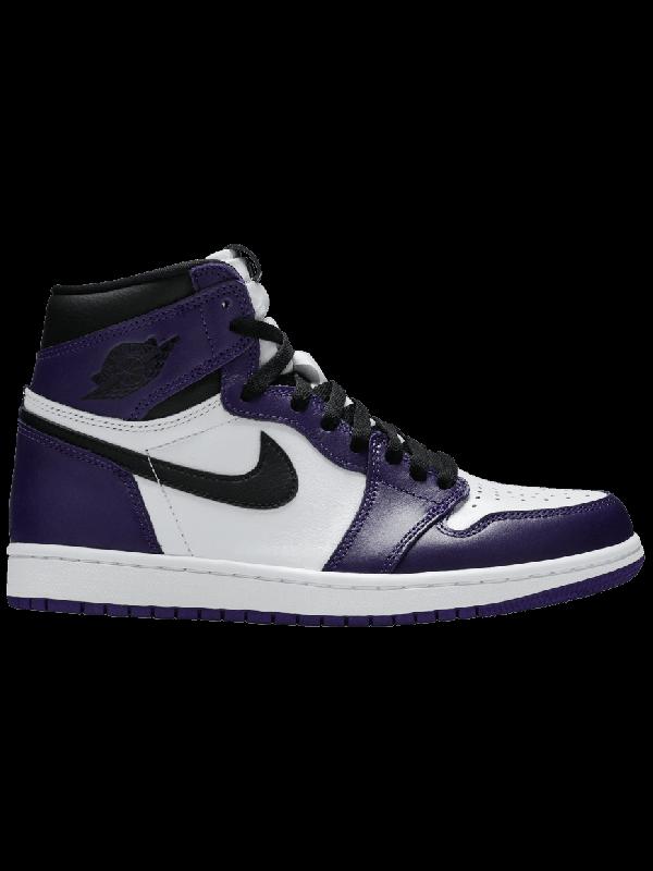 Cheap Air Jordan Shoes 1 Retro High Court Purple White