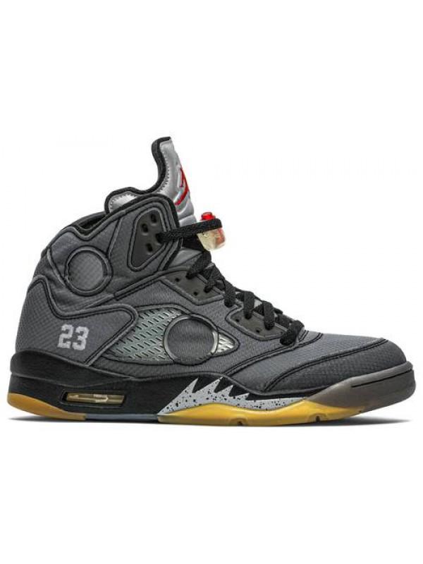 Cheap Air Jordan Shoes 5 Retro Off White Black