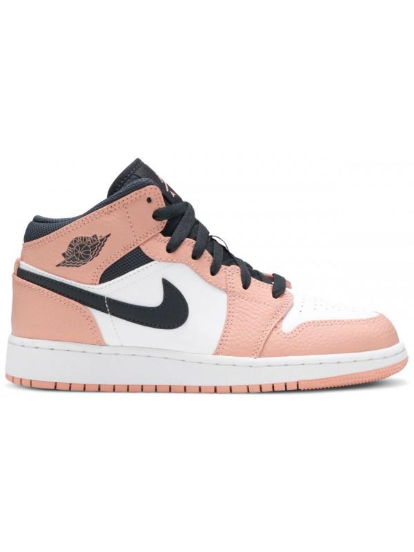 Cheap Air Jordan Shoes 1 Mid Pink Quartz