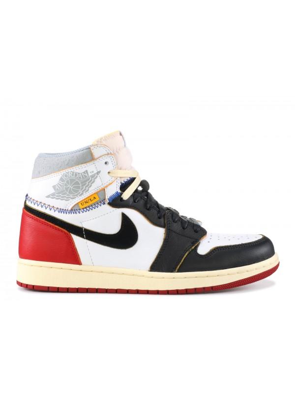 """Cheap Air Jordan Shoes 1 RETRO HI NRG/UN """"UNION"""" BALCK RED"""