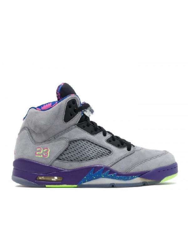 Cheap Air Jordan Shoes 5 Retro Bel-Air Gray Purple Green