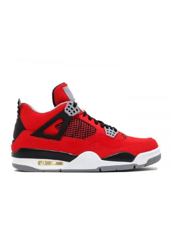 Cheap Air Jordan Shoes 4 Retro Fire Red White Black Cmnt Grey