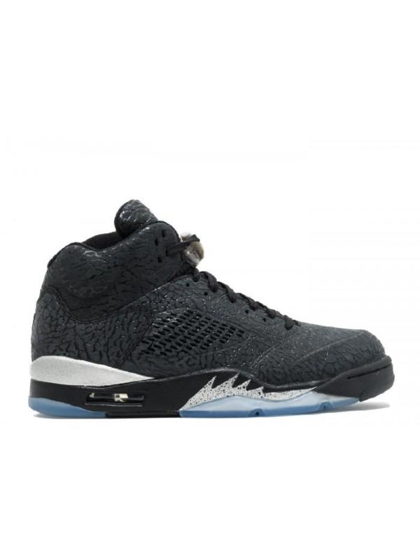 Cheap Air Jordan Shoes 5 Retro 3lab5 3lab5 Black-Metallic Silver