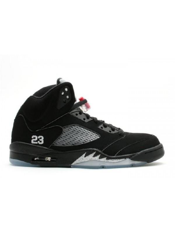 Cheap Air Jordan Shoes 5 Retro Black Sliver