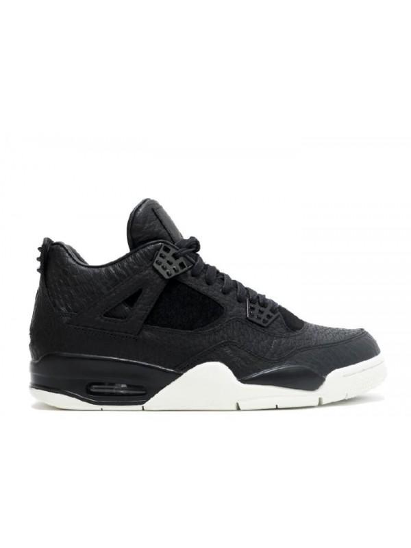 Cheap Air Jordan Shoes 4 Premium Pinnacle Black Sail