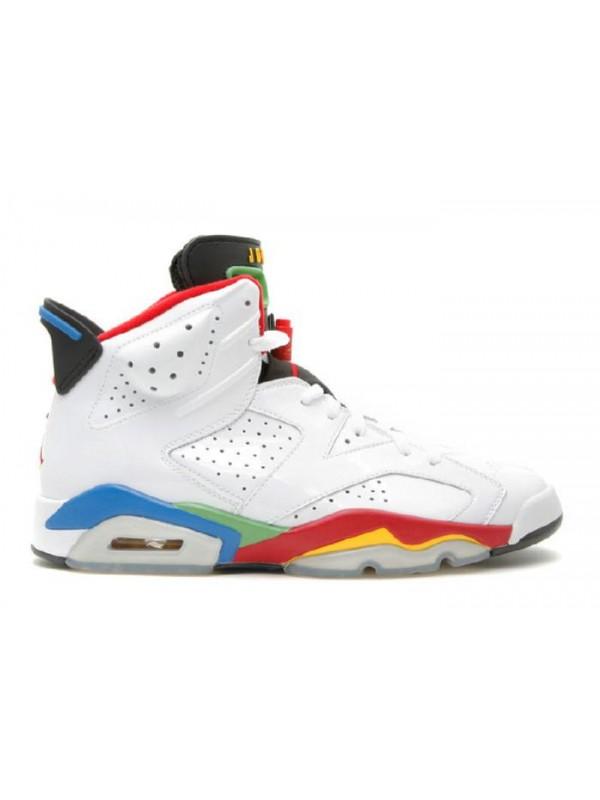 Cheap Air Jordan Shoes Olympic 6 White Varsity Red Green
