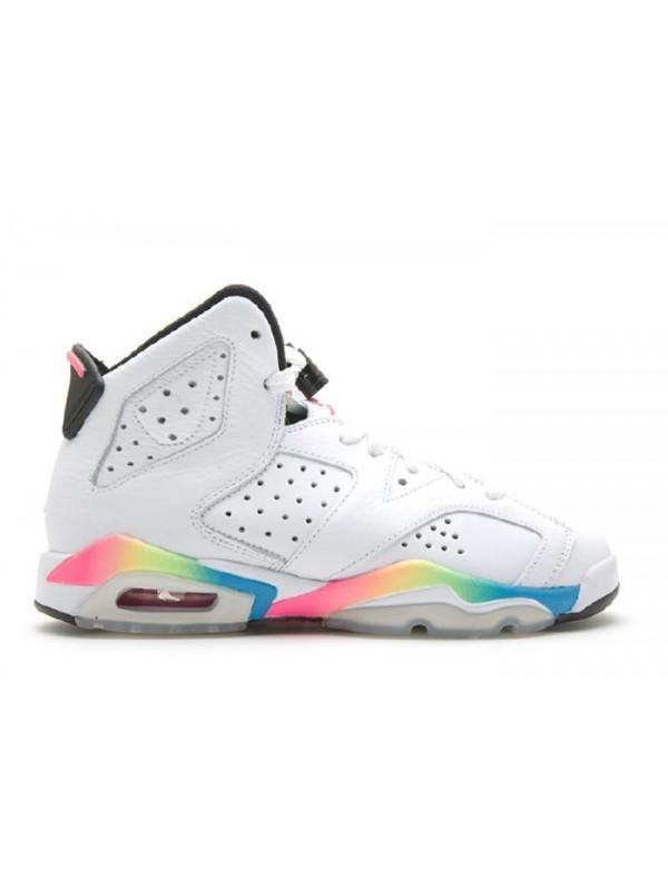 Cheap Air Jordan Shoes 6 Retro (Gs) White