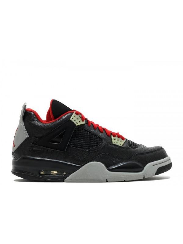 Cheap Air Jordan Shoes 4 Retro Rare Air Laser Black Varsity Red Medium Grey