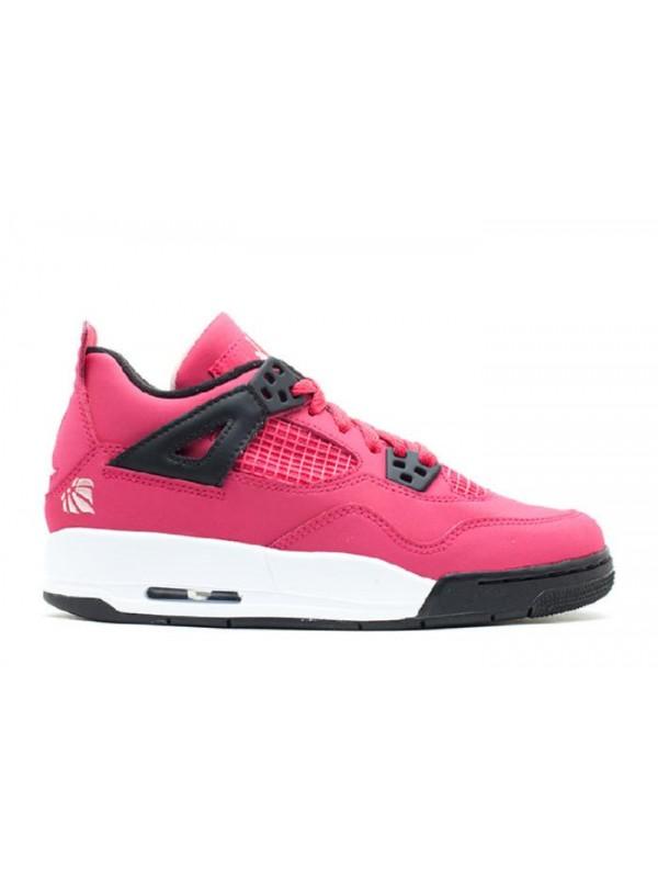 Cheap Girls Air Jordan Shoes 4 Retro Gs Voltage Cherry White Black