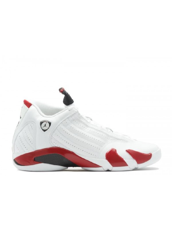 Cheap Air Jordan Shoes 14 Retro Candy Cane White Varsity Red Black