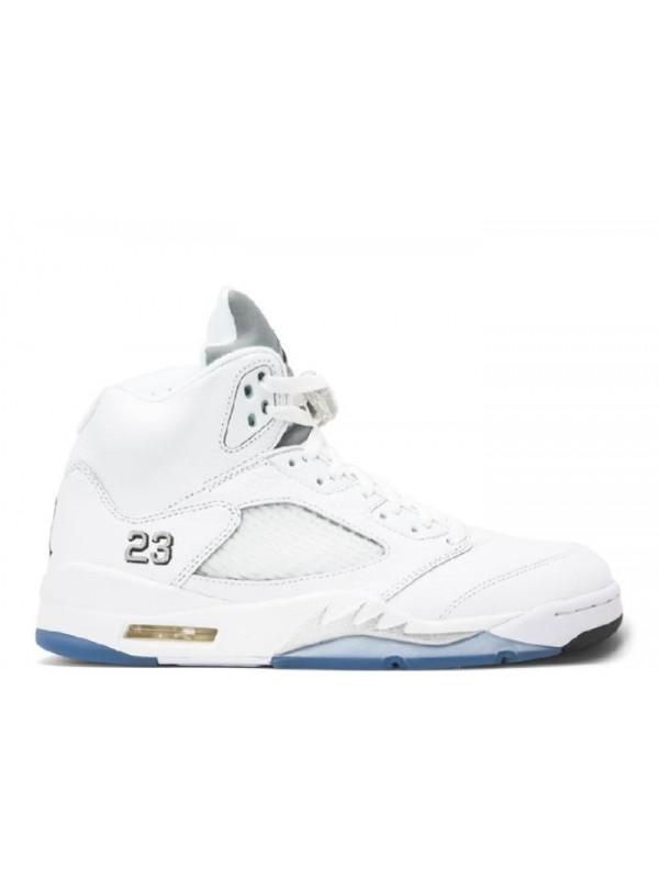 Cheap Air Jordan Shoes 5 Retro 2015 Release White Blue