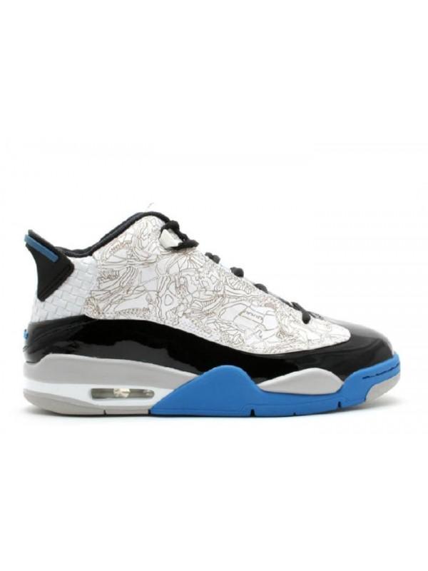 Cheap Air Jordan Shoes Dub-Zero White Black Light Photoblue