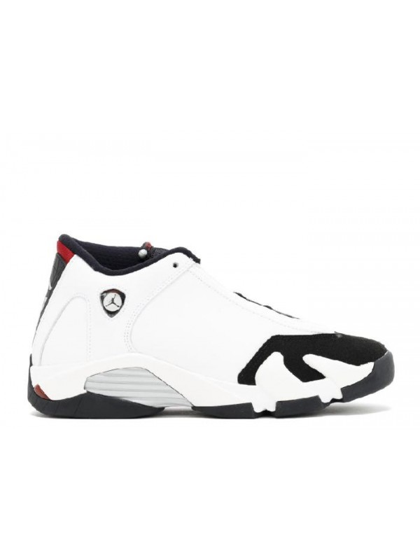 Cheap Air Jordan Shoes 14 Retro(GS) Black Toe White Black Varsity Red Metallic Silver