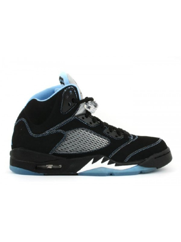 Cheap Air Jordan Shoes 5 Retro Ls Black University Blue White