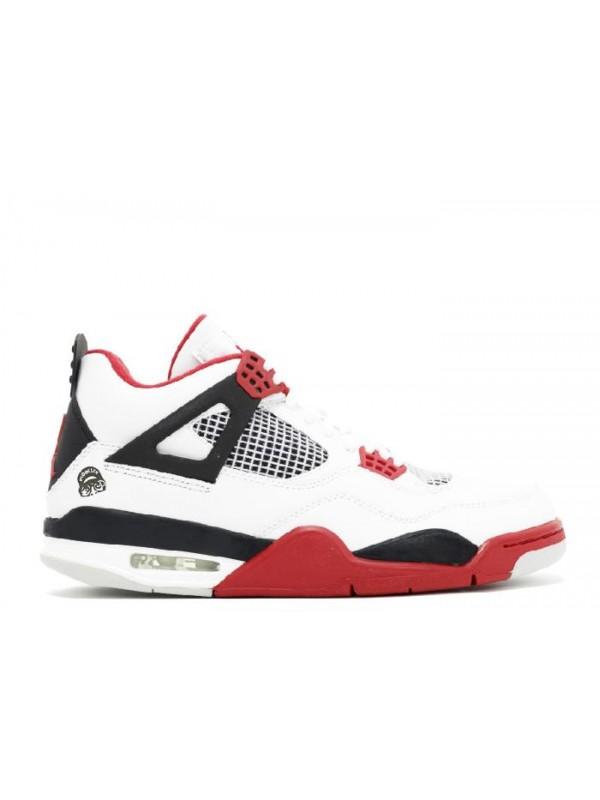 Cheap Air Jordan Shoes 4 Retro Mars Blackmon White Varsity Red Black