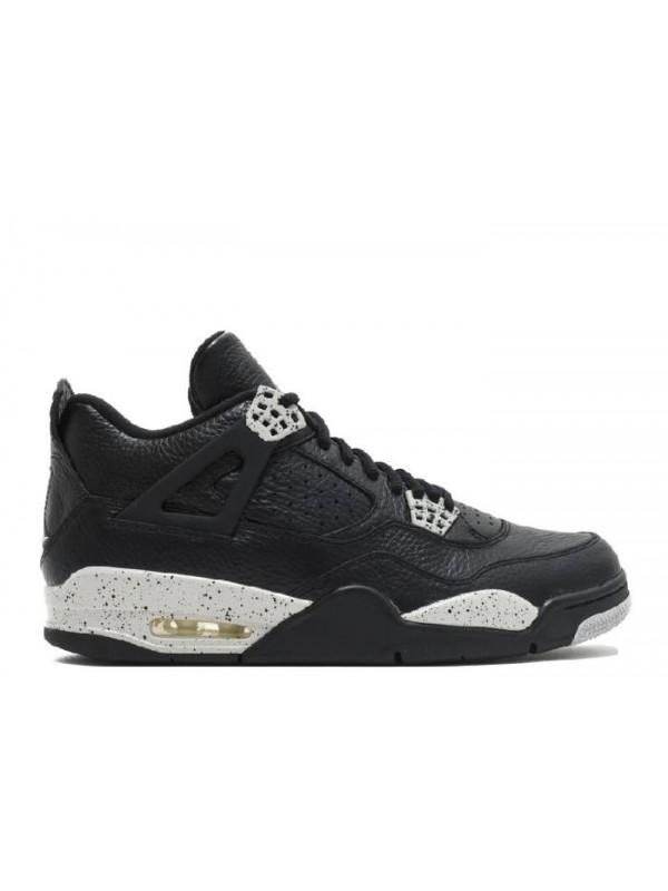 Cheap Air Jordan Shoes 4 Retro Oreo Ls Black Tech Grey Black