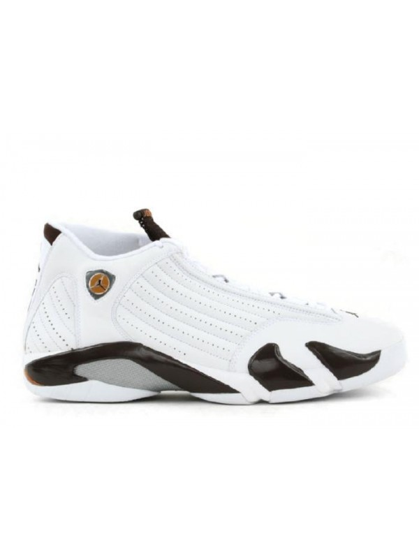 Cheap Air Jordan Shoes 14 Retro White Dark Cinder Chutney