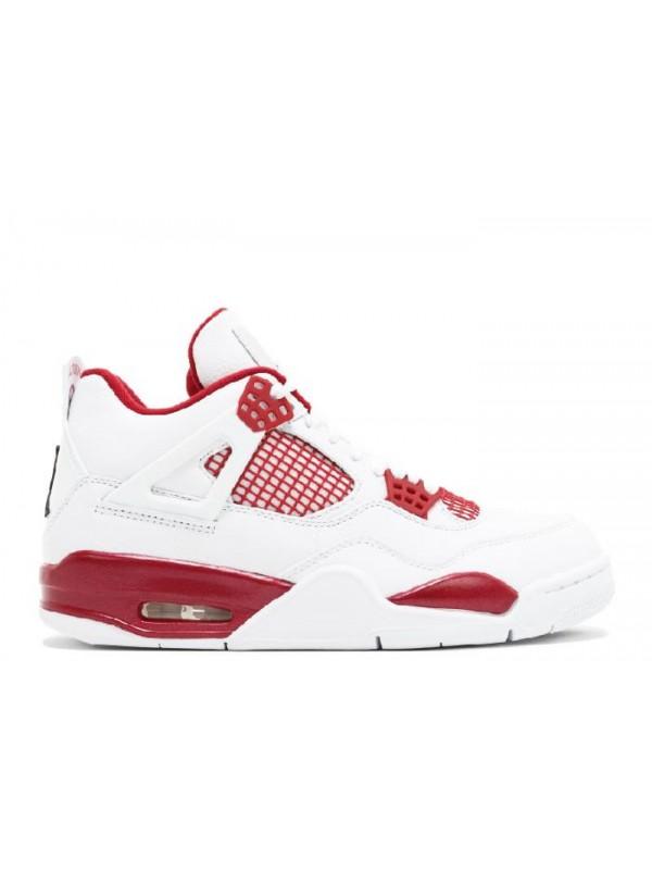 Cheap Air Jordan Shoes 4 Retro Alternate 89 White Black Gym Red