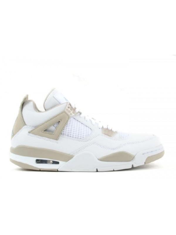Cheap Womens Air Jordan Shoes 4 Retro White Border Blue Light Sand
