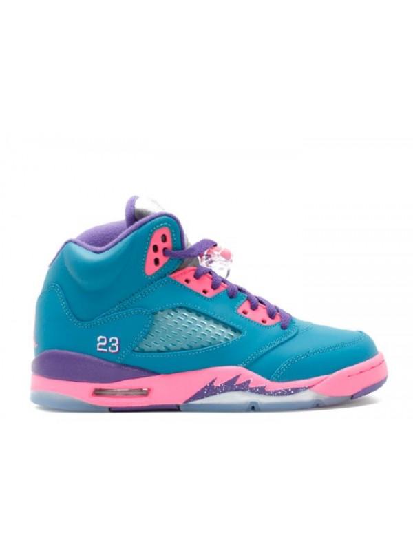 Cheap Girls Air Jordan Shoes 5 Retro (Gs) Tropical Teal