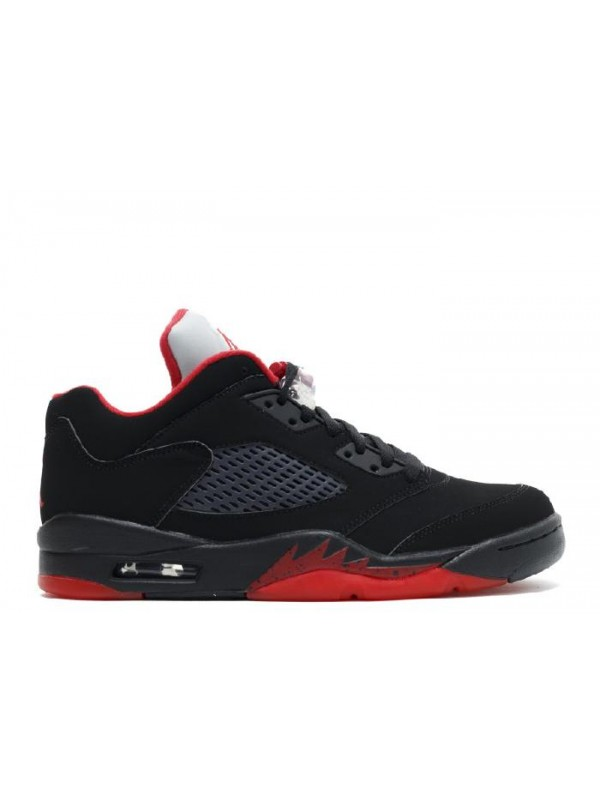 Cheap Air Jordan Shoes 5 Retro Low Alternate 90 Black Red
