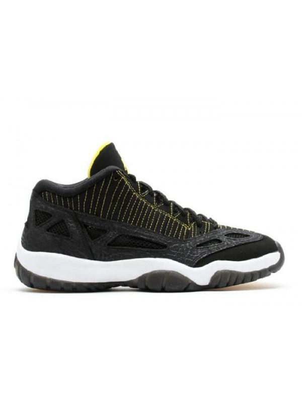 Cheap Air Jordan Shoes 11 Retro Low Black Zest White