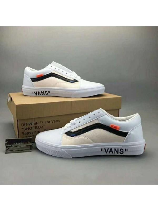 Cheap Off White x Vans Old Skool White Beige Online