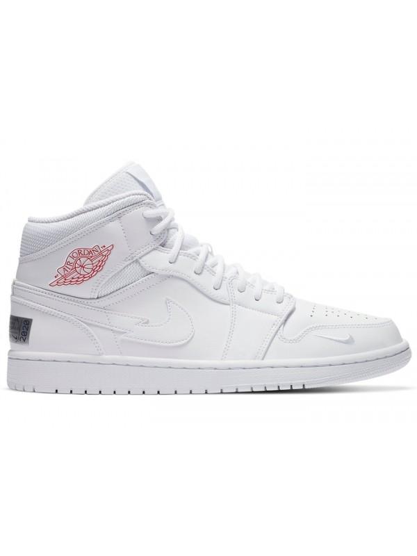 Cheap Air Jordan Shoes 1 Mid SE Nike Swoosh On Tour (2020)