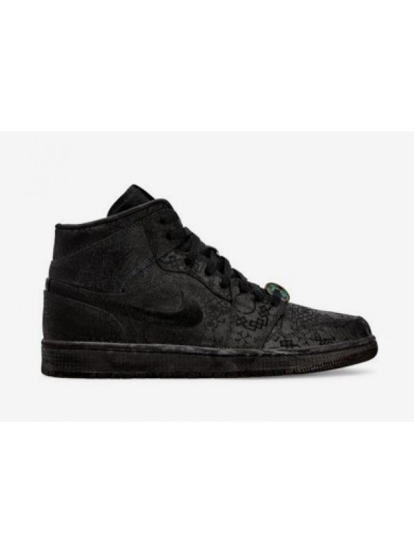 Cheap Air Jordan Shoes 1 Mid Edison Chen Black Clot