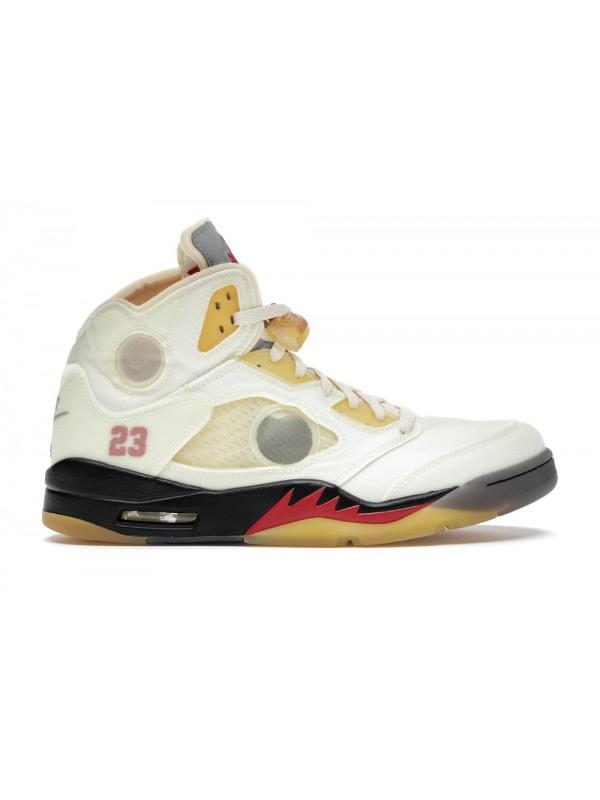 Cheap Air Jordan Shoes 5 Retro OFF-WHITE Sail
