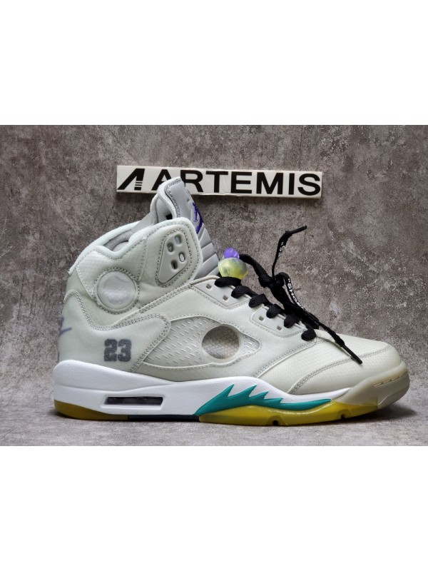 Cheap Air Jordan Shoes 5 Retro Off White Grape