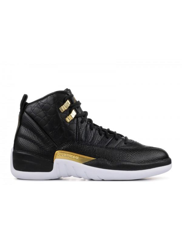 Cheap Air Jordan Shoes 12 Retro Black Metallic Gold White