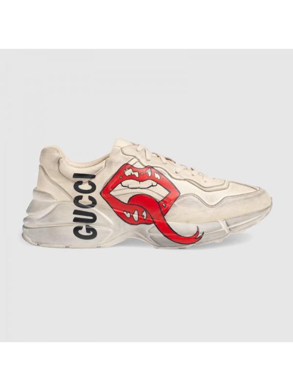 Cheap Gucci Rhyton sneaker with mouth print